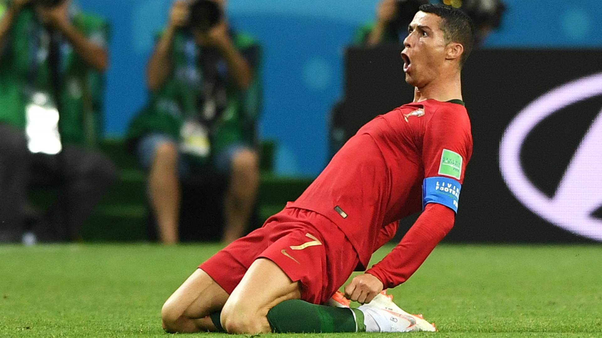 Ronaldo reacts to Portugal 1-0 win over Morocco