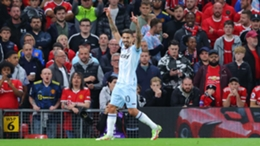 West Ham's Manuel Lanzini celebrates his goal against Manchester United