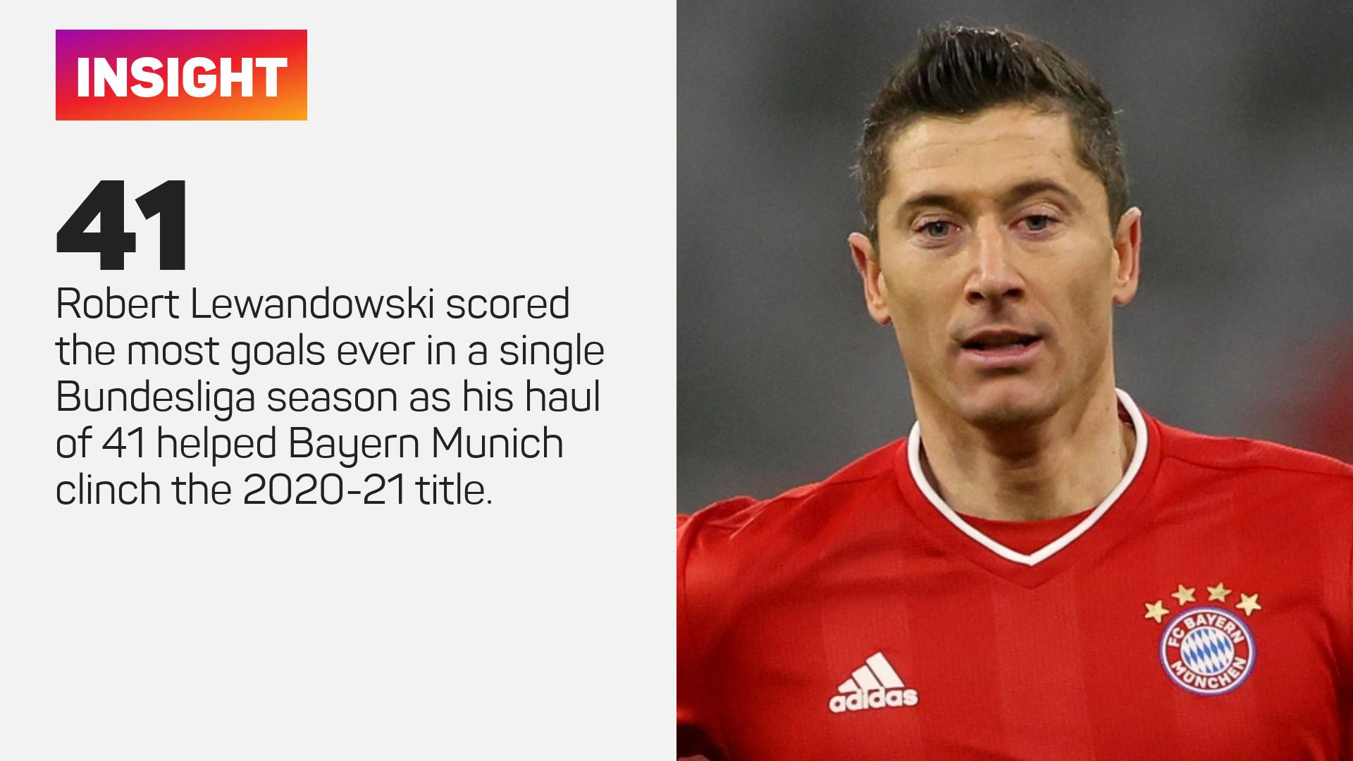 Robert Lewandowski had a bountiful season for Bayern