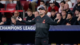 Jurgen Klopp watches on during Liverpool's meeting with Atletico Madrid