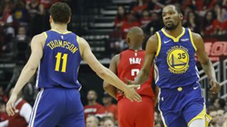 Klay Thompson and Kevin Durant - cropped
