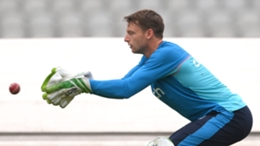England wicketkeeper Jos Buttler trains at Old Trafford