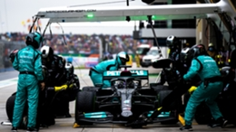 Lewis Hamilton was called in for a late pitstop in Istanbul