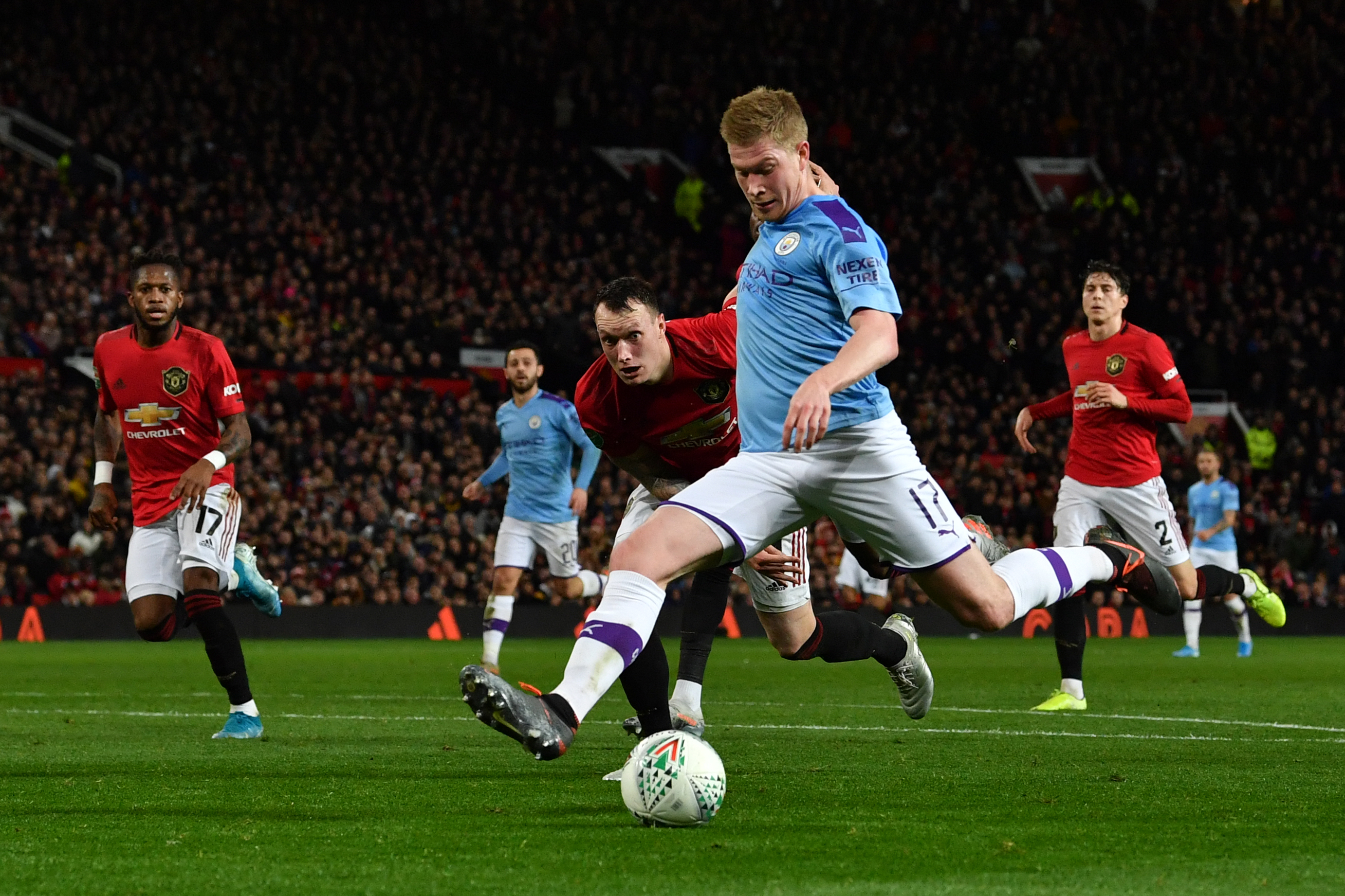 Kevin De Bruyne against Manchester United