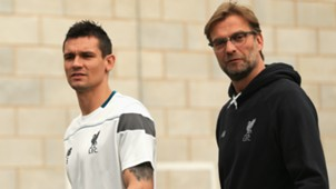 Dejan Lovren and Jurgen Klopp - cropped