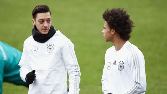 Mesut Ozil's Germany absence a 'pity' - Leroy Sane