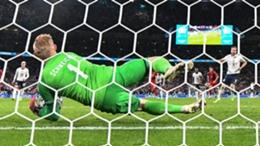 Kasper Schmeichel saves Harry Kane's penalty