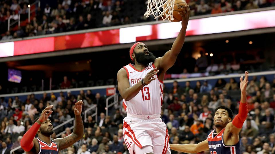 NBA wrap: Rockets fall to Wizards despite 54 points from James Harden; Warriors rally for win