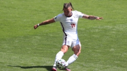 Leeds United midfielder Kalvin Phillips in action for England during Euro 2020.
