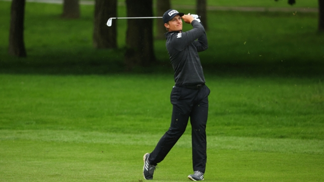 Calum Hill, joint-leader of the British Masters