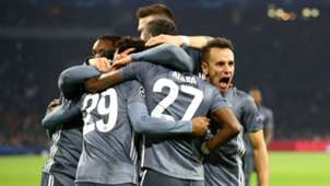 Bayern players celebrating - cropped