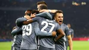 Bayern players celebrating - cropped