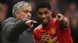 Mourinho and Rashford during the former's time in charge of Man Utd