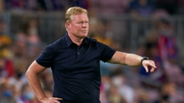 Ronald Koeman is hanging on to his post as Barcelona head coach