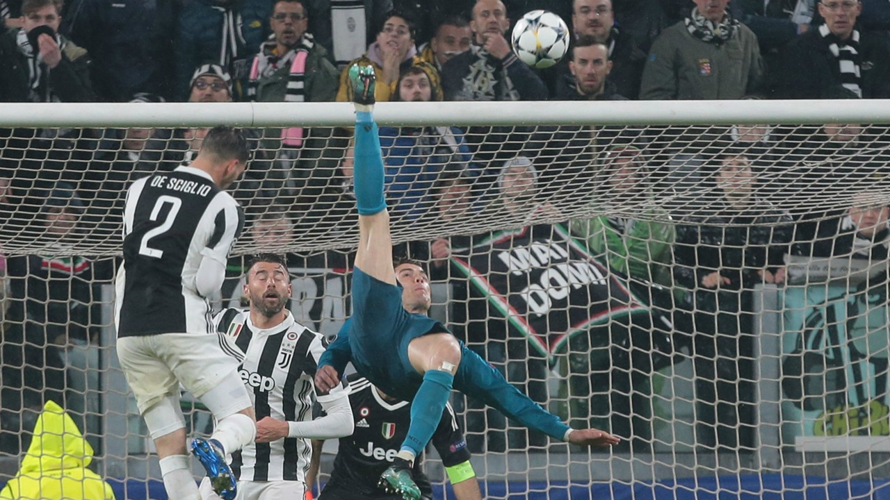 Image result for Ronaldo's overhead kick leads UEFA Goal of the Season nominees as Bale is snubbed