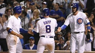 Javier Baez (left), Ian Happ (middle) and Kris Bryant (right).