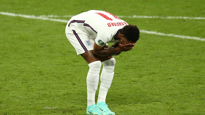 Marcus Rashford missed a penalty for England in the shoot-out loss to Italy