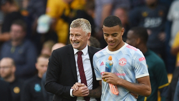 Mason Greenwood (r) was on target again for Manchester United