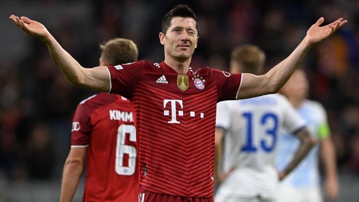 Robert Lewandowski continues to bang in the goals for Bayern Munich