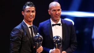 Cristiano Ronaldo and Zinedine Zidane