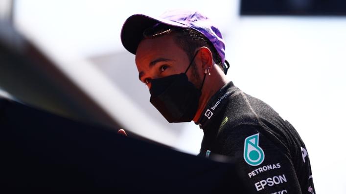 Lewis Hamilton is trailing Max Verstappen