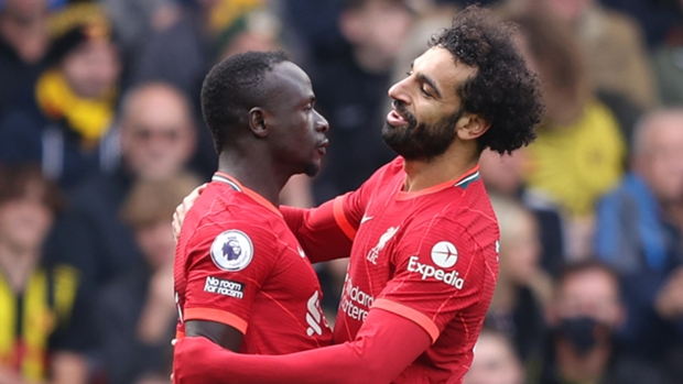 Liverpool's Mohammed Salah (right) and Sadio Mane (left) will be key misses for the Merseyside club