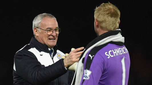 Claudio Ranieri Kasper Schmeichel - cropped