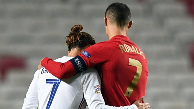 Antoine Griezmann and Cristiano Ronaldo