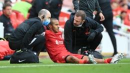 Thiago Alcantara was injured in Liverpool's win over Crystal Palace