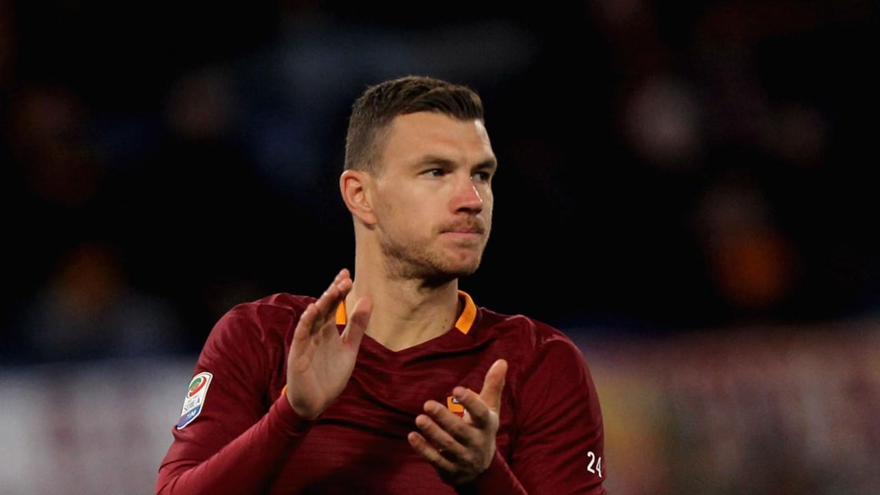 Serie A top scorer Edin Dzeko out of Roma v Juventus
