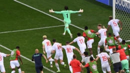 Switzerland celebrate a famous win over France