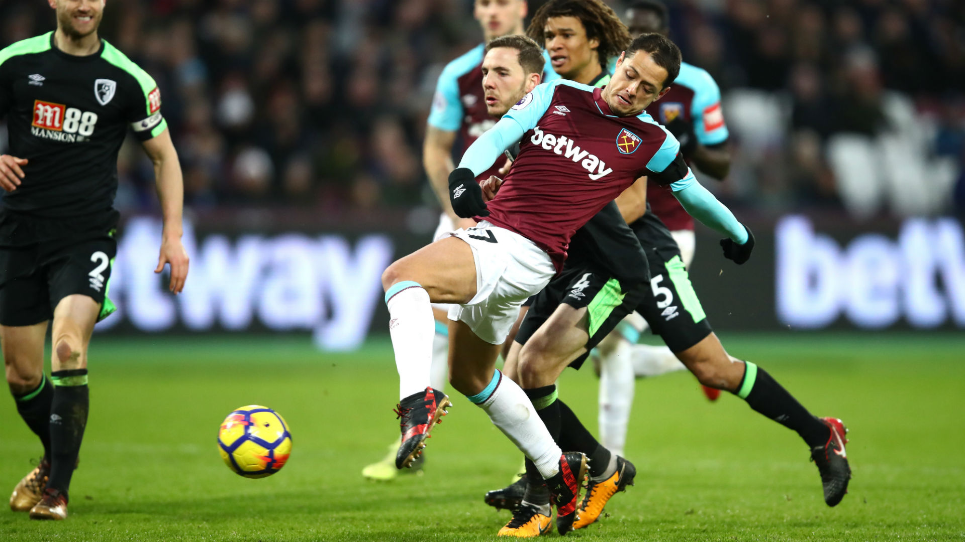 Battling Bournemouth hold West Ham to 1-1 draw