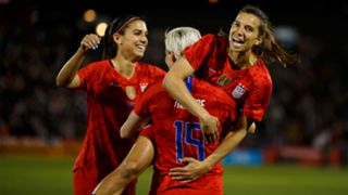 Alex Morgan, Megan Rapinoe and Tobin Heath