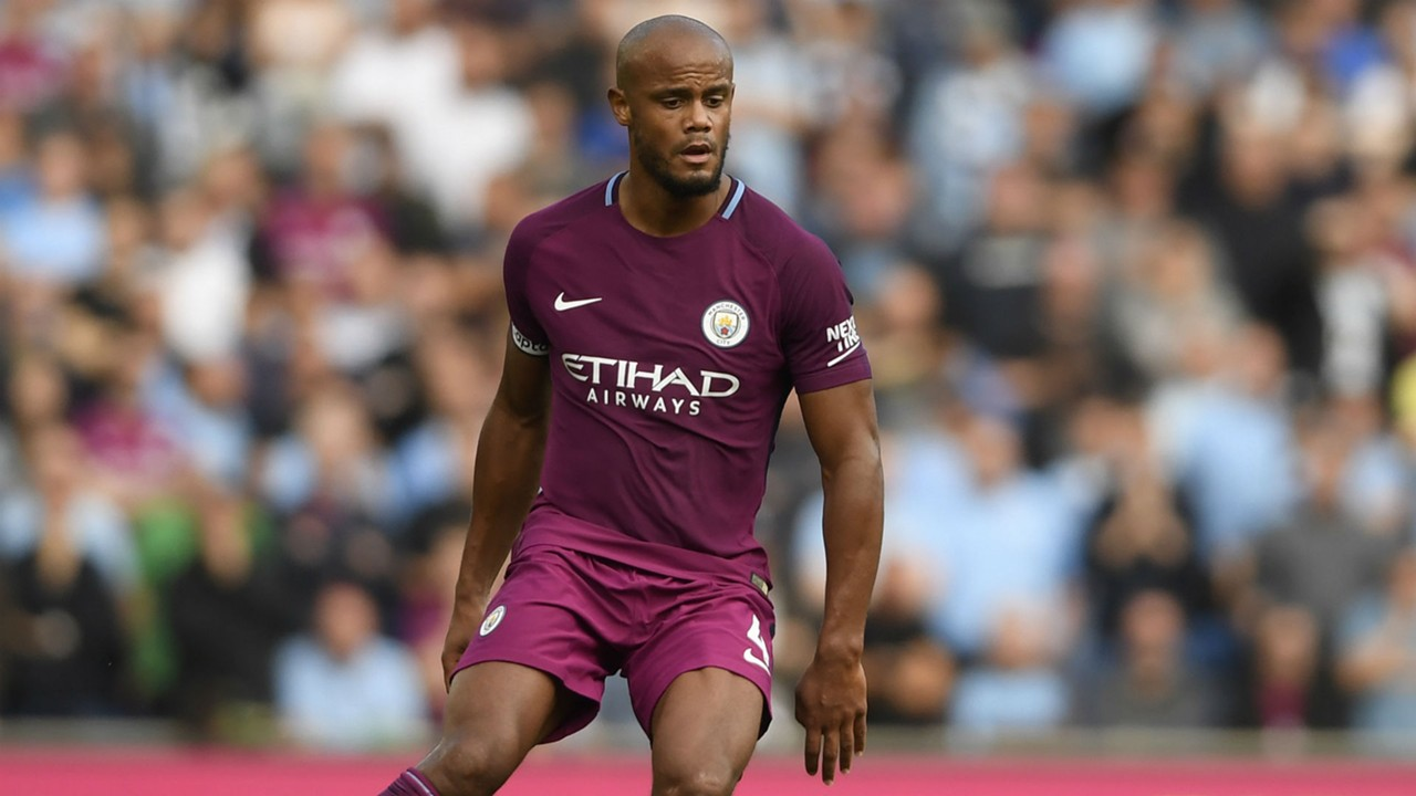 Image result for vincent kompany man city 2017/18