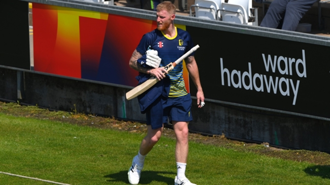 Ben Stokes after a net session for Durham