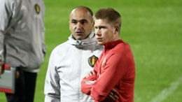 Kevin De Bruyne and Belgium head coach Roberto Martinez