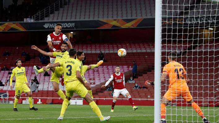 Pierre-Emerick Aubameyang hit the post twice against Villarreal