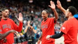 DeMar DeRozan (c) and the Chicago Bulls