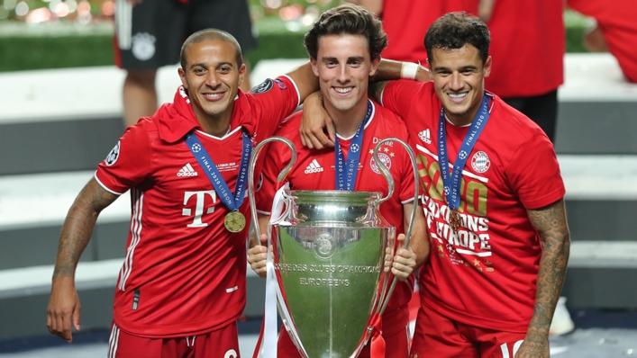 Thiago Alcantara (left) has won the Champions League with Bayern Munich and Barcelona