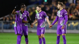Tottenham players debate among one another during a timid outing against Vitesse