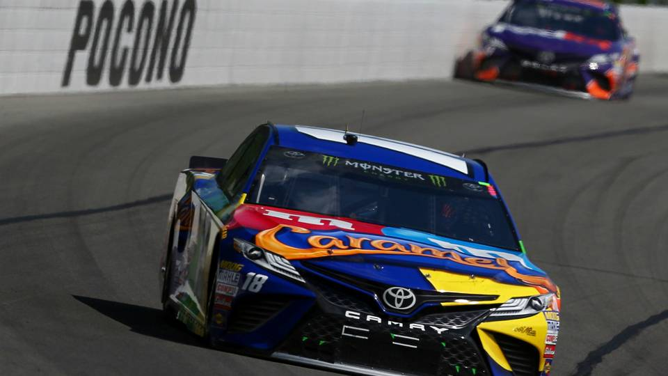 NASCAR results at Pocono: Kyle Busch holds on to win after late-race delays