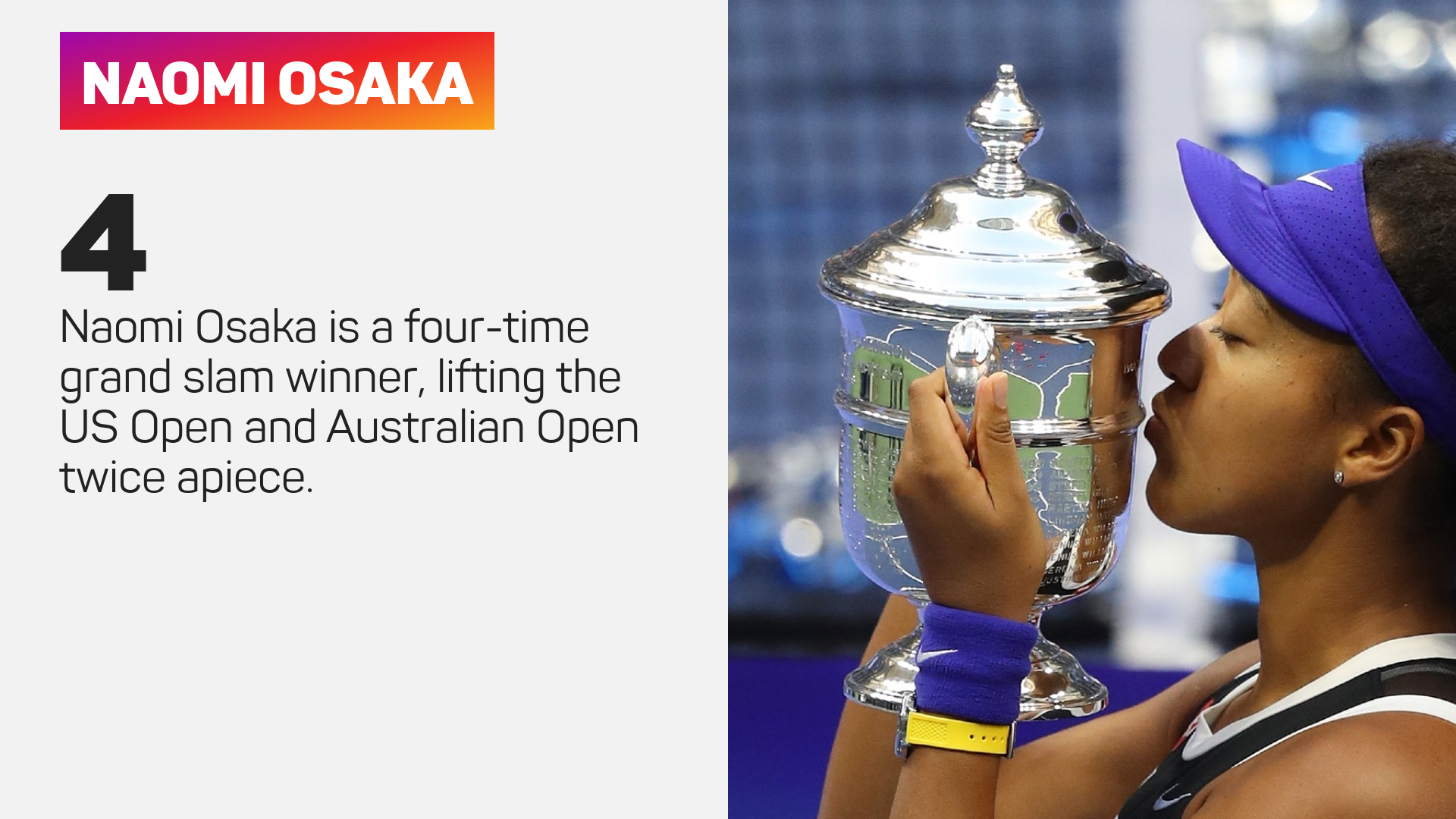 Naomi Osaka is aiming to defend her US Open title