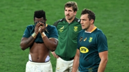 South Africa players after the defeat to the British and Irish Lions