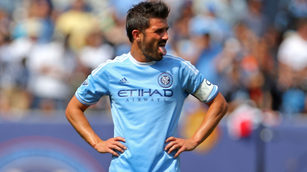 WATCH David Villa sent off after referee uses video replay
