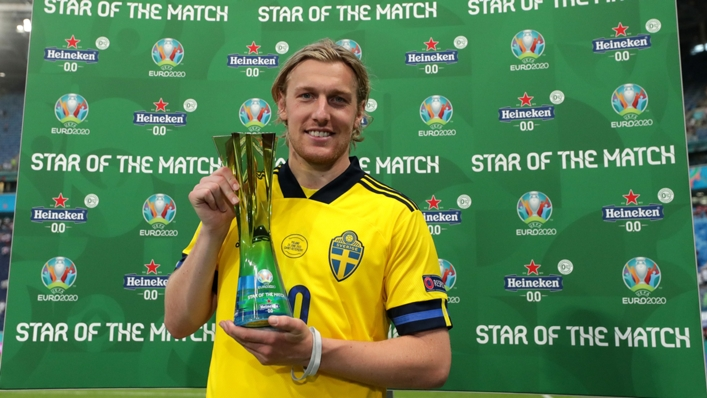 Emil Forsberg starred for Sweden as they knocked Poland out