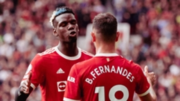 Ole Gunnar Solskjaer wants sustained form from Paul Pogba (L)