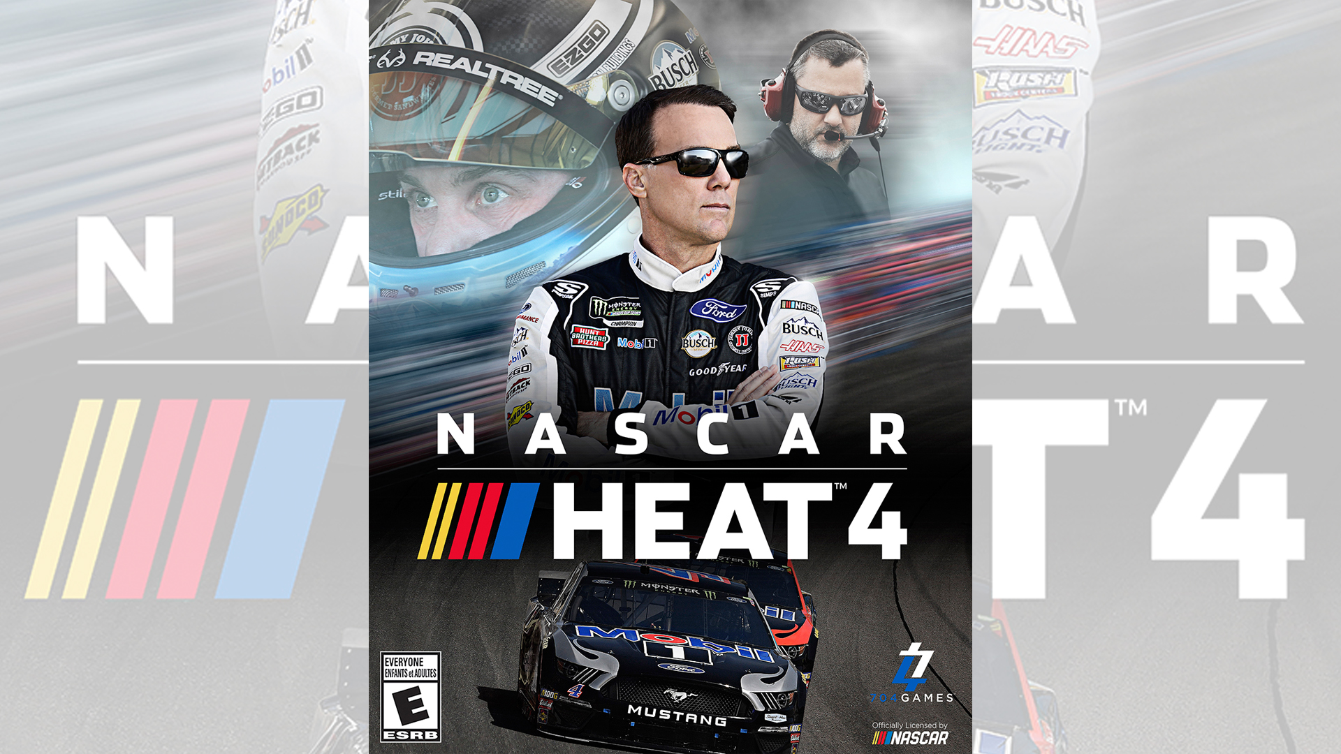 Kevin Harvick's excitement around 'NASCAR Heat 4' cover centers around son Keelan