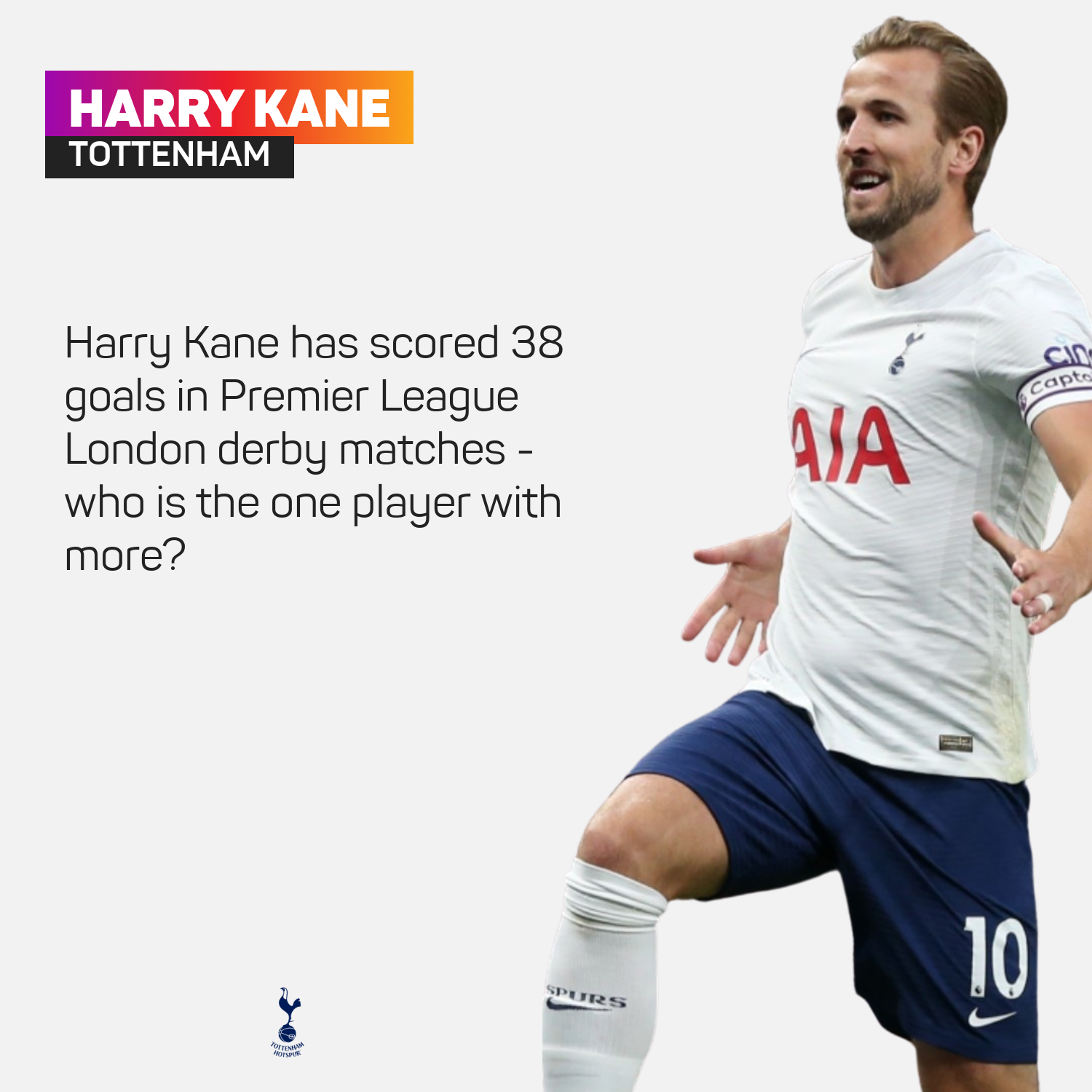 Harry Kane has a great record in London derbies