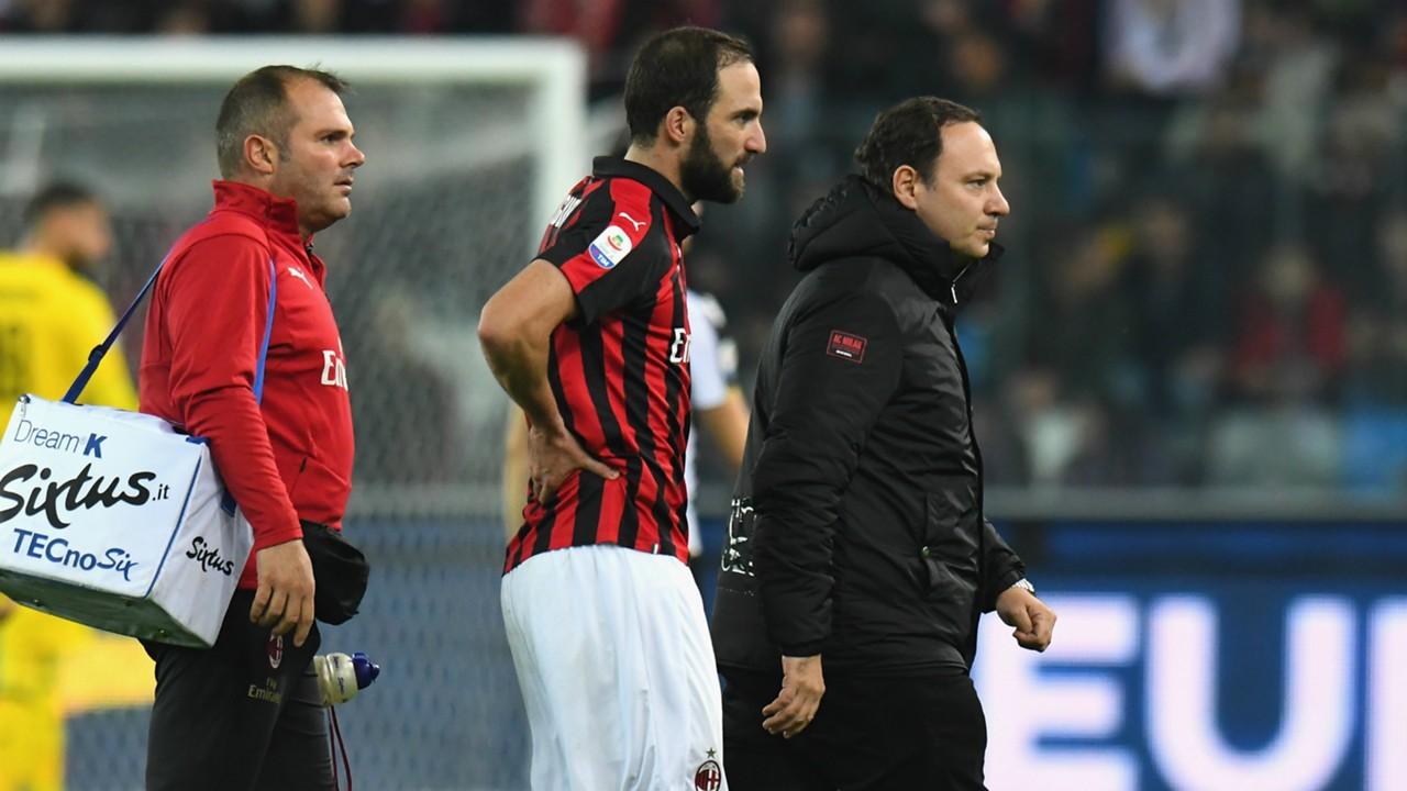 AC Milan: Gennaro Gattuso hopes for positive news on injured Gonzalo Higuain