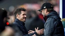 Jurgen Klopp (r) has praised Atletico Madrid boss Diego Simeone